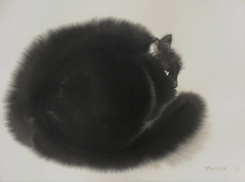 watercolor cats by endre penovac (1)