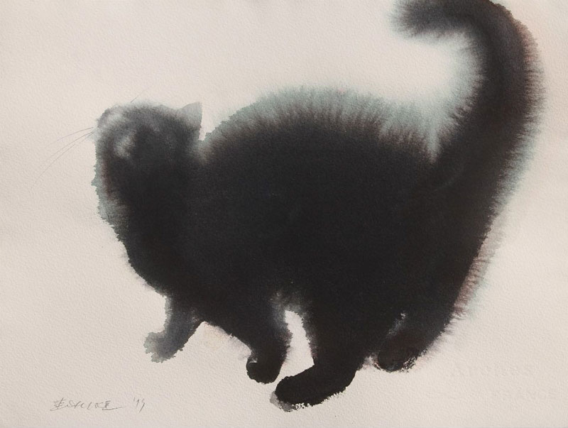 watercolor cats by endre penovac (10)