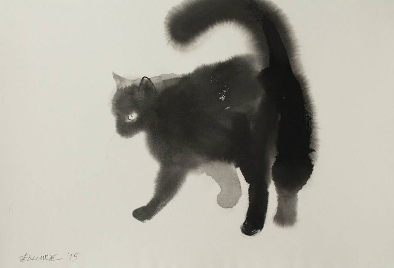 watercolor cats by endre penovac (11)