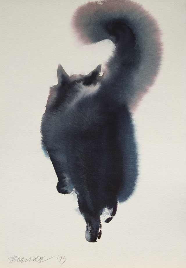 watercolor cats by endre penovac (13)