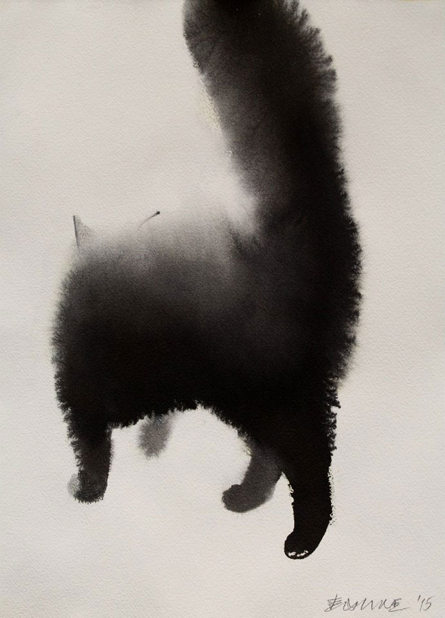 watercolor cats by endre penovac (2)