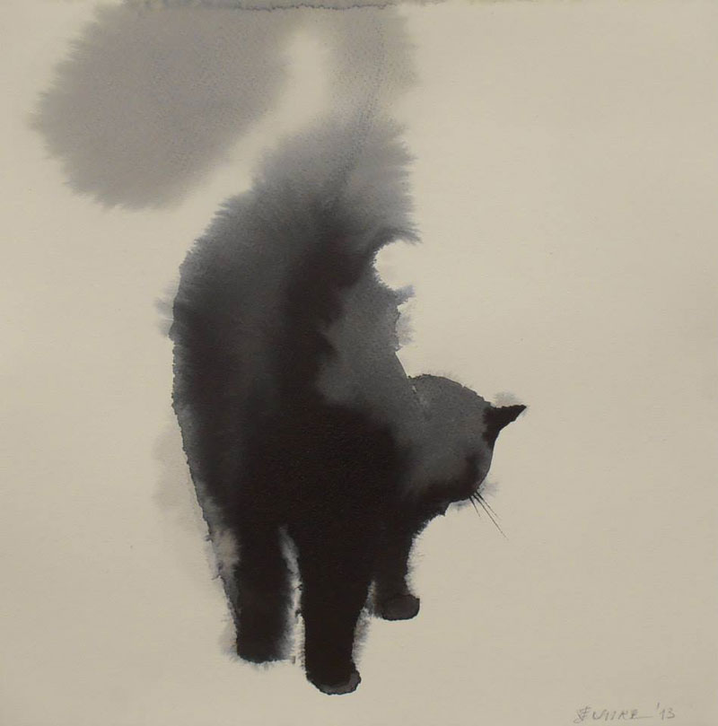 watercolor cats by endre penovac (3)