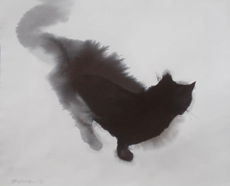 watercolor cats by endre penovac (4)