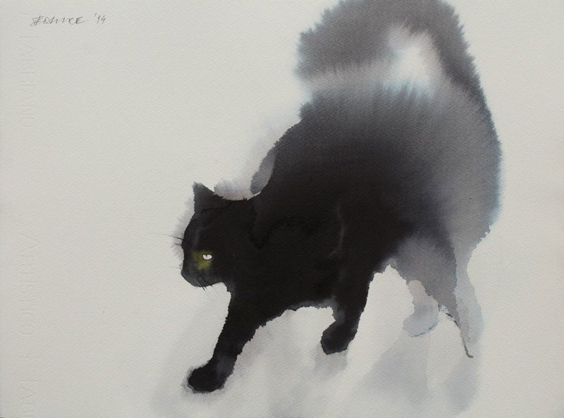watercolor cats by endre penovac (5)