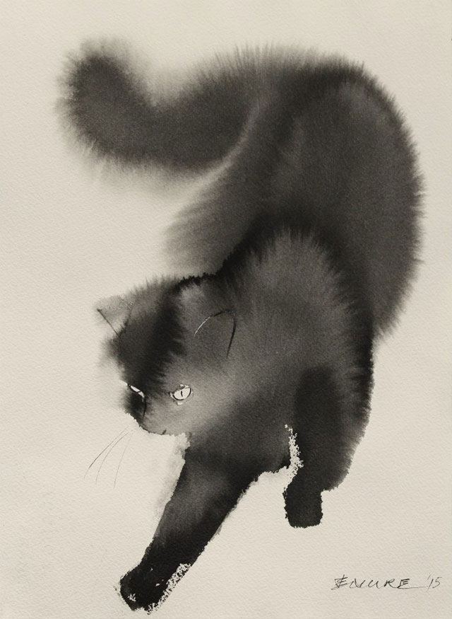 watercolor cats by endre penovac (8)