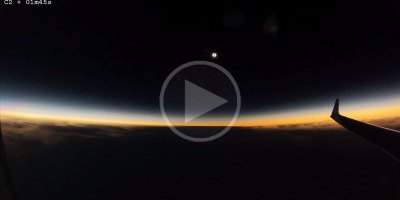 What March's Total Solar Eclipse Looked Like from an AirplaneWindow