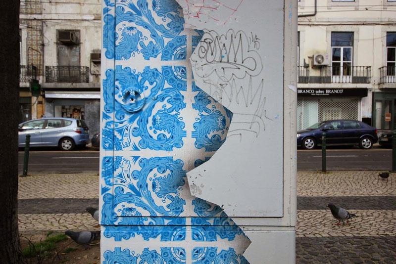 ceramic tile street art diogo machado add fuel lisbon (4)
