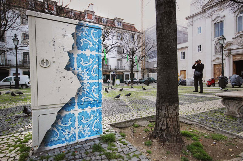 ceramic tile street art diogo machado add fuel lisbon (6)
