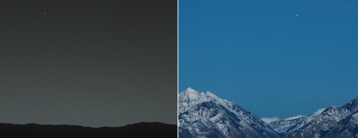 earth from mars and mars from earth The Top 25 Pictures of the Day for 2015