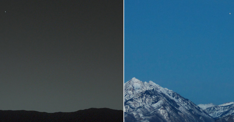 Picture of the Day: Earth from Mars and Mars fromEarth