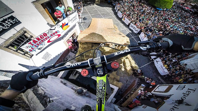 Amazing POV Shows Rider Tear Through Downhill Street Course in Taxco, Mexico