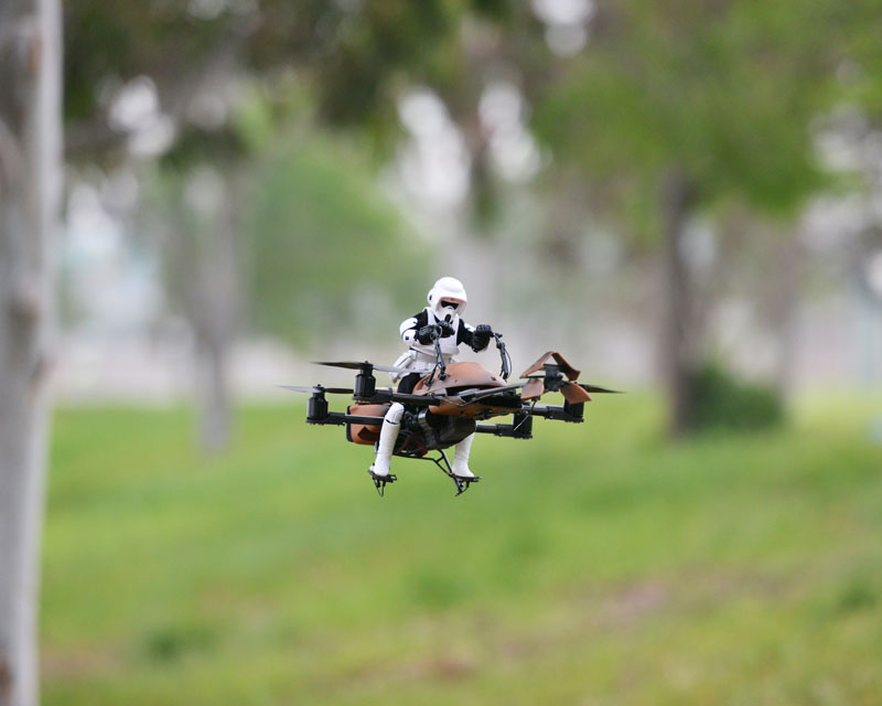imperial speeder bike quadcopter drone by adam woodworth (9)