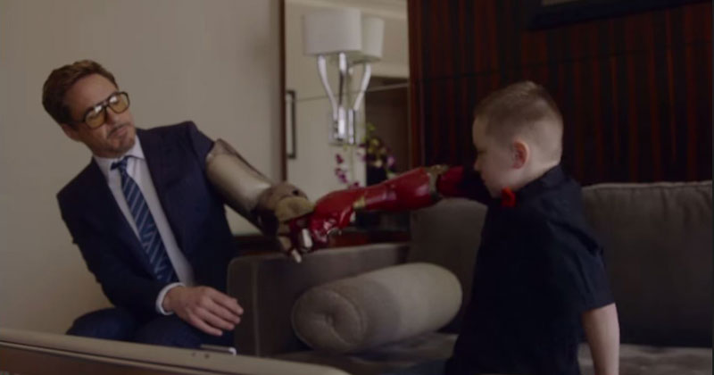 Iron Man Delivers a Real Bionic Arm to 7 Year-Old Alex