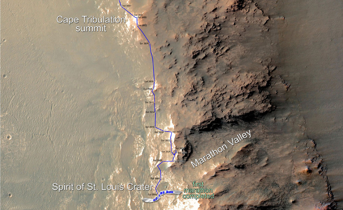 Mars Rover Completes 1st Ever Marathon on Another Planet (3)