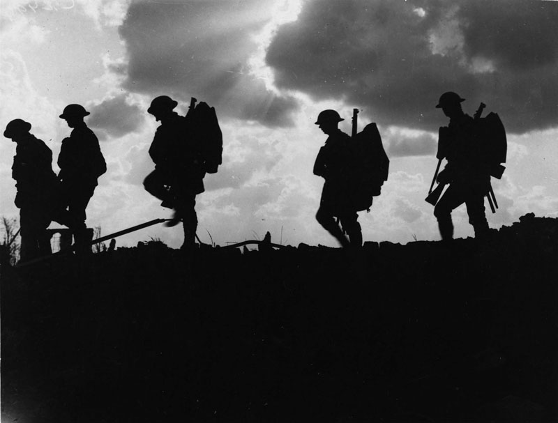 NLS-Haig---Troops_moving_up_at_eventide_-_men_of_a_Yorkshire_regiment_on_the_march