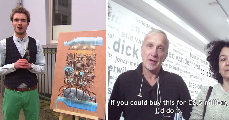 showing an ikea print to art experts