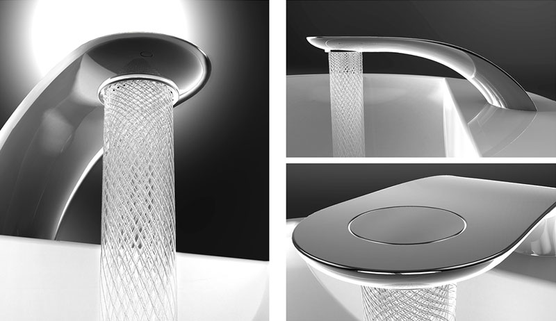 simon qiu Designs Faucet that Saves and Swirls Water Into Amazing Patterns (2)