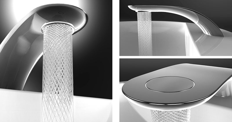 Student Designs Faucet that Saves and Swirls Water Into Amazing Patterns