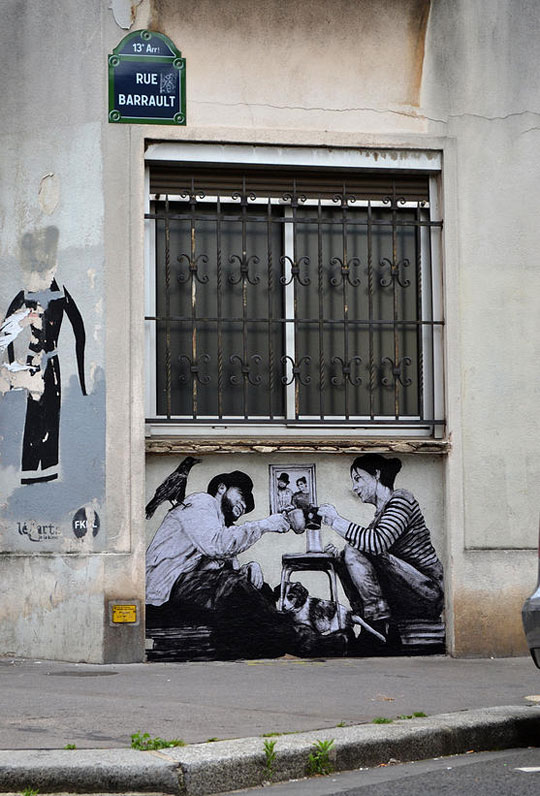 Cool street art in paris by levalet