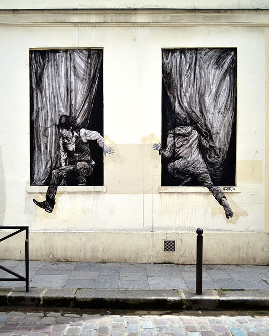 Awesome street art in paris by levalet