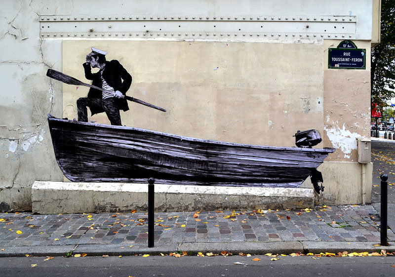 Trend street art in paris by levalet