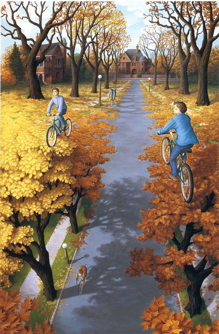 surreal optical illusion paintings by rob gonsalves (11)