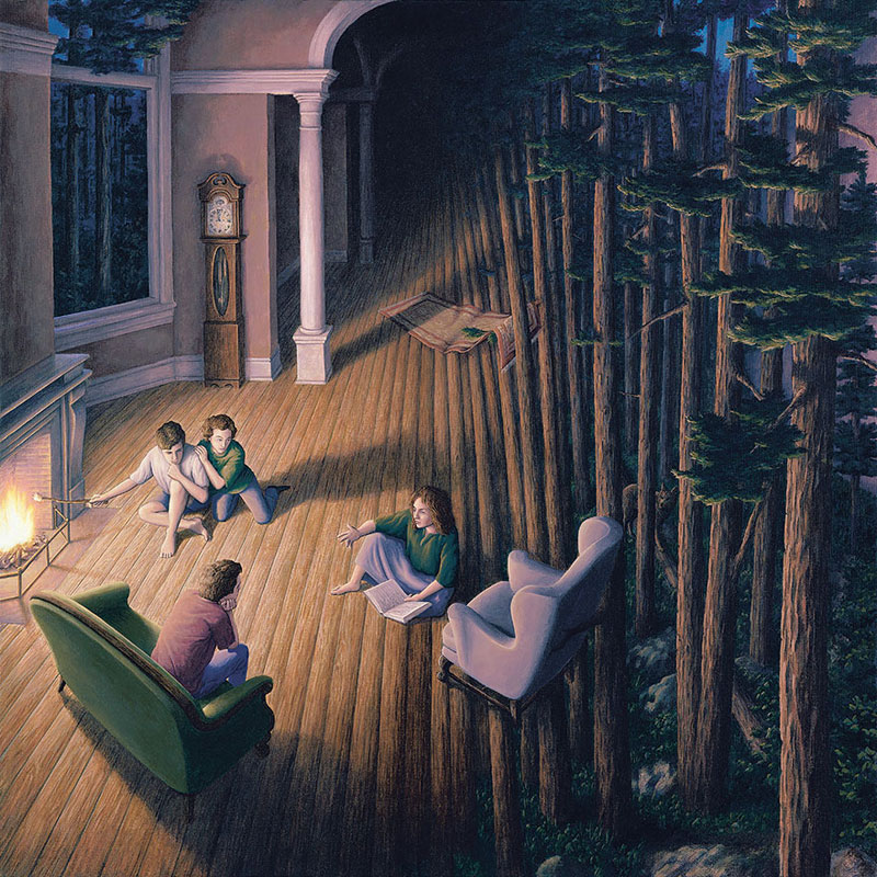 surreal optical illusion paintings by rob gonsalves (16)