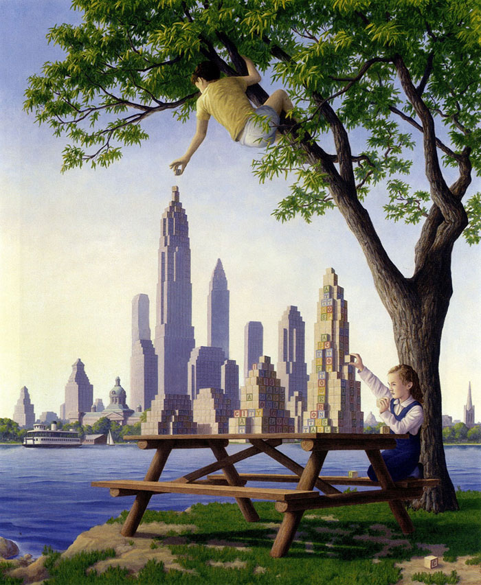 surreal optical illusion paintings by rob gonsalves (17)