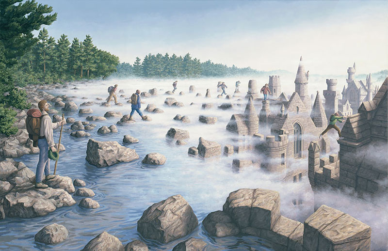 surreal optical illusion paintings by rob gonsalves (18)