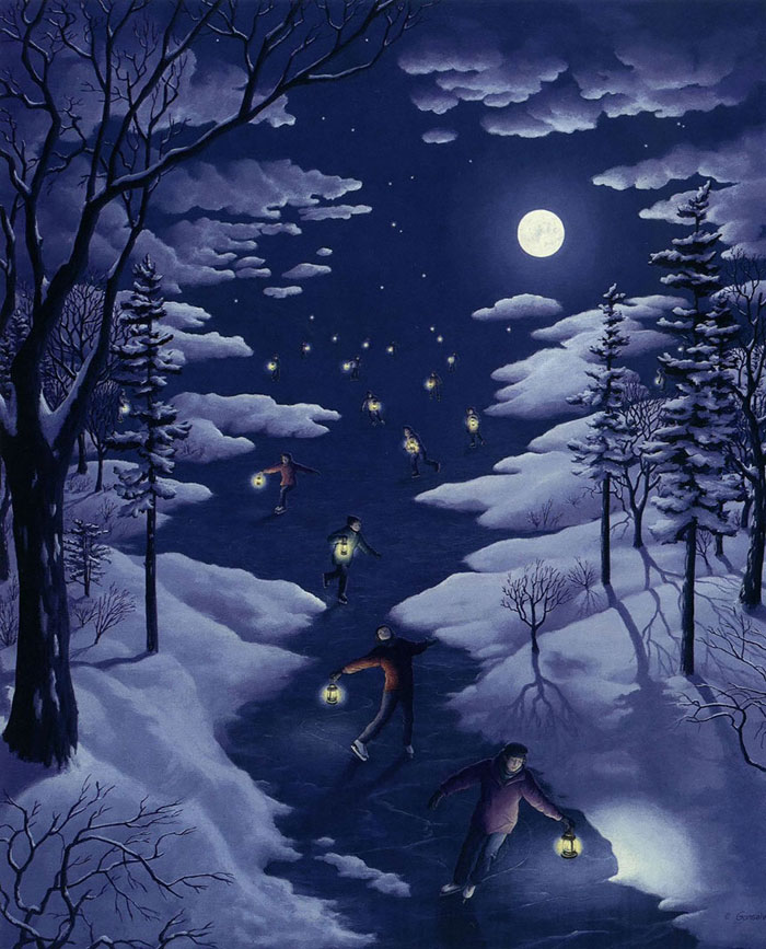 surreal optical illusion paintings by rob gonsalves (20)