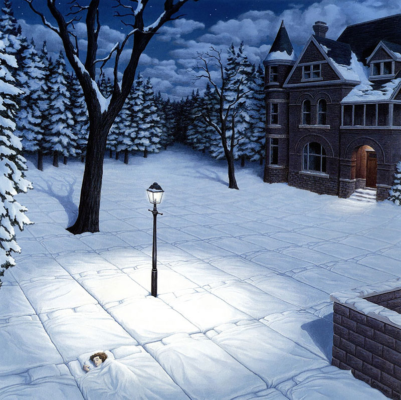 surreal optical illusion paintings by rob gonsalves (21)