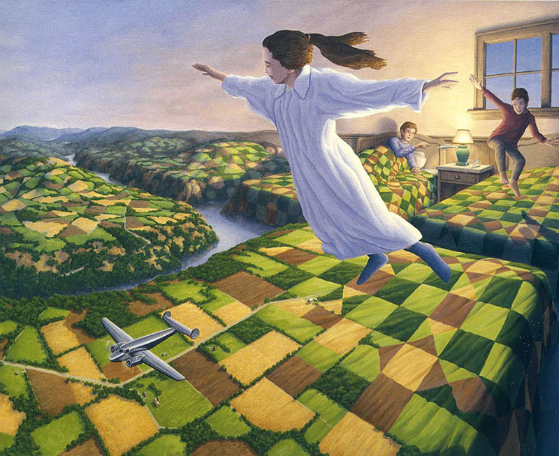 surreal optical illusion paintings by rob gonsalves (23)