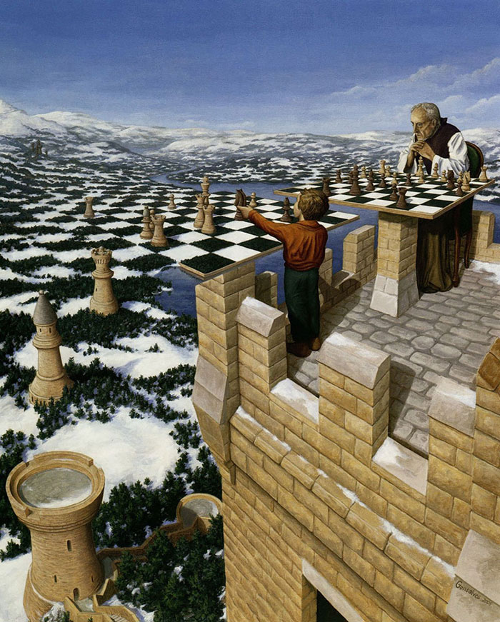 surreal optical illusion paintings by rob gonsalves (24)