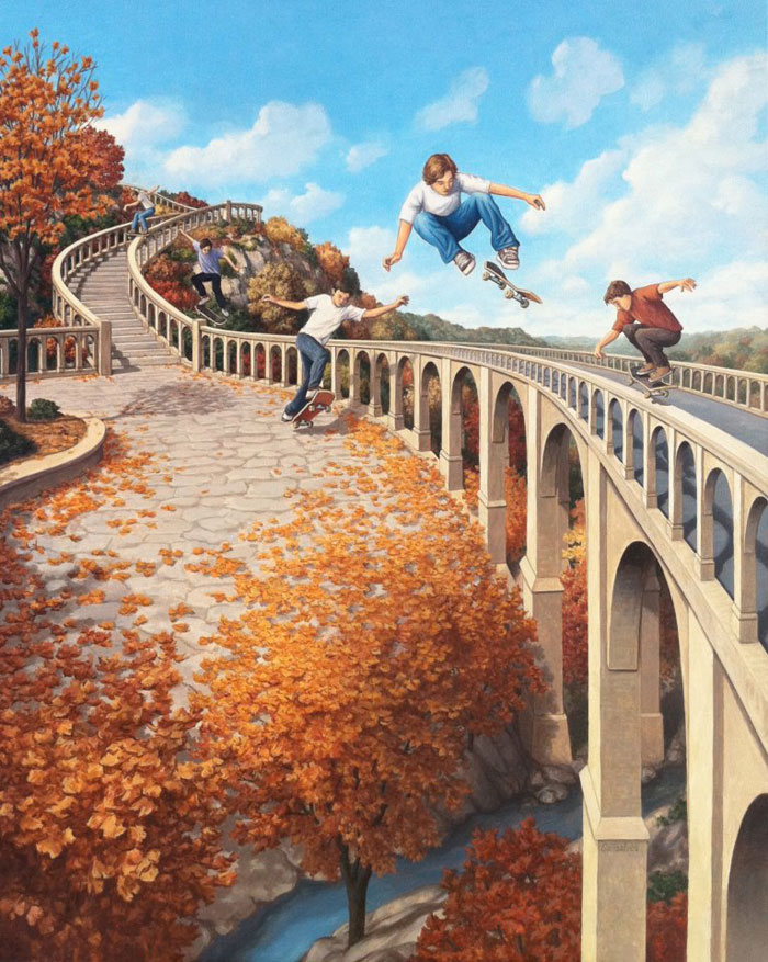 surreal optical illusion paintings by rob gonsalves (3)