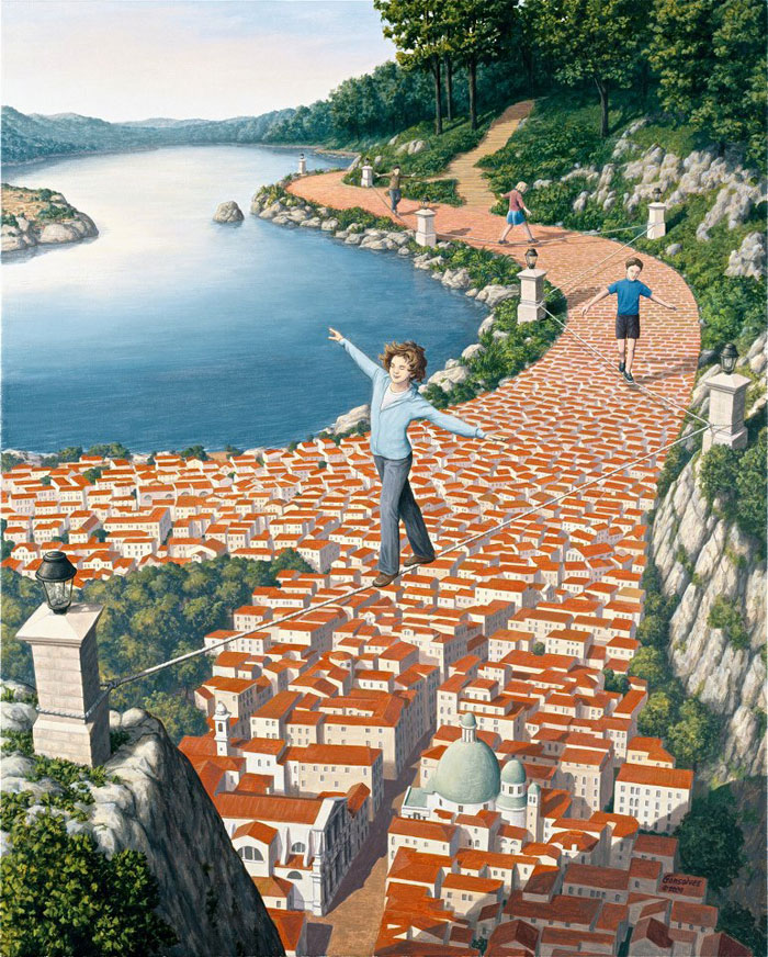 surreal optical illusion paintings by rob gonsalves (4)