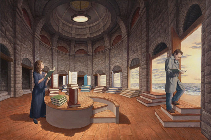 surreal optical illusion paintings by rob gonsalves (6)