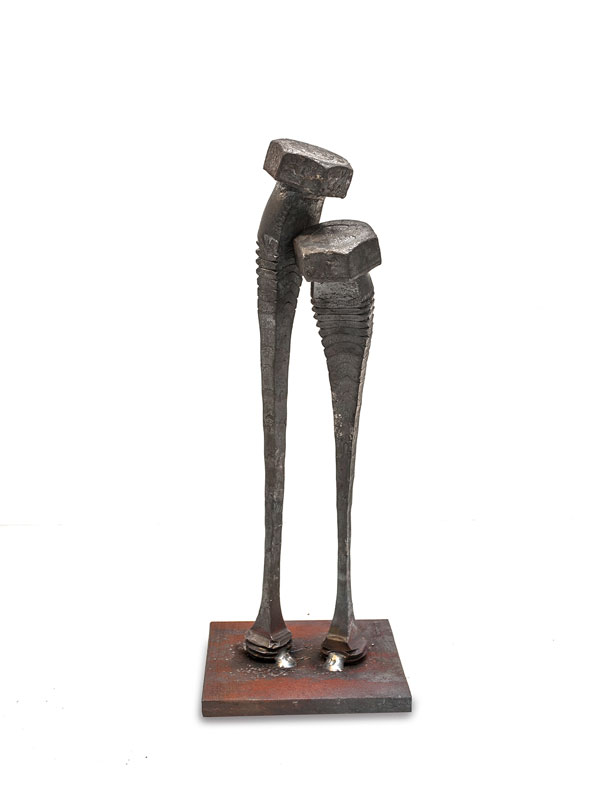 tobbe malm transforms steel bolts into evocative sculptures (5)