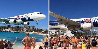 Incredible Video Shows Just How Low the Planes at Maho Beach Get