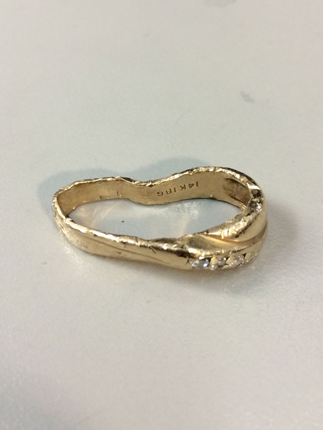 amazing wedding ring restoration after falling into