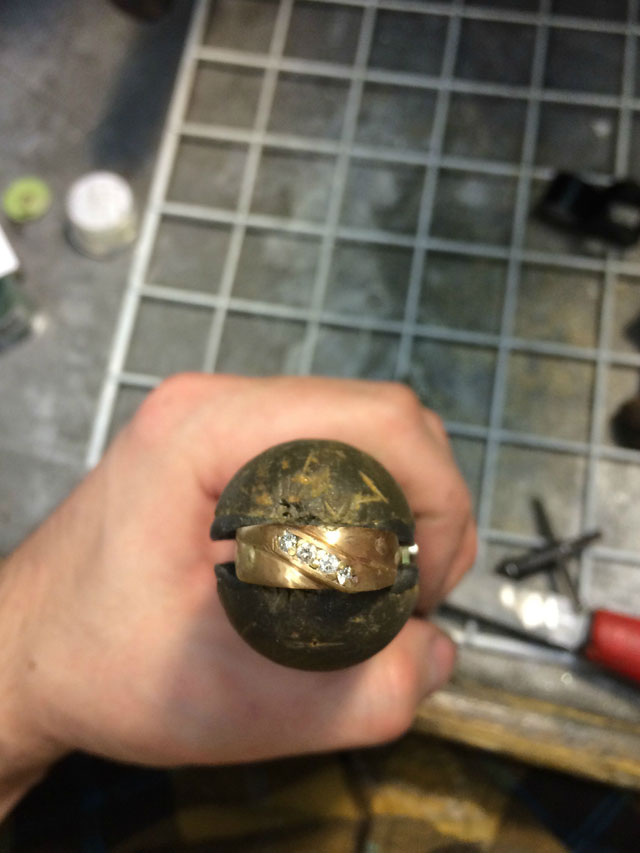 Wedding Ring Restoration Afer Falling Into a Garbage Dispoal (13)