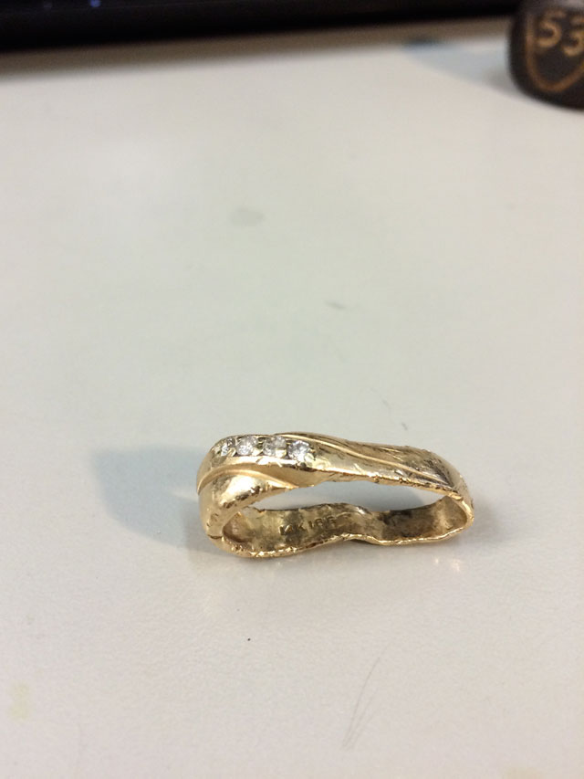 Wedding Ring Restoration Afer Falling Into a Garbage Dispoal (3)
