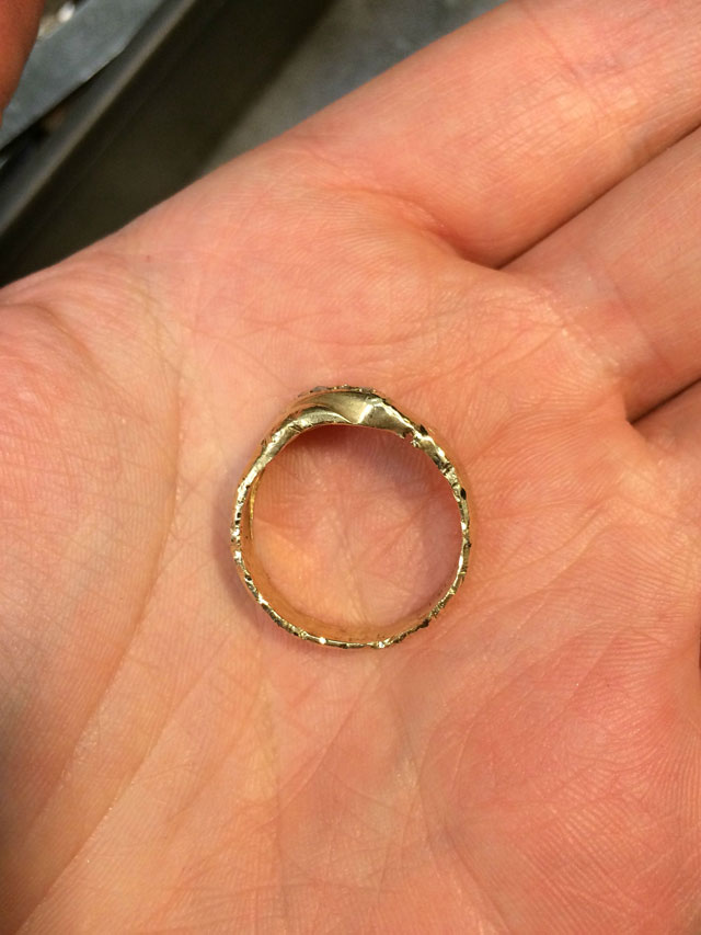 Wedding Ring Restoration Afer Falling Into a Garbage Dispoal (7)