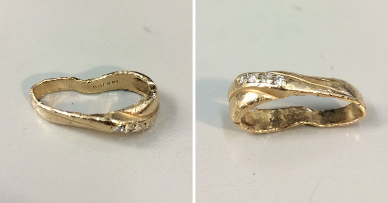 Amazing Wedding Ring Restoration After Falling Into Garbage Disposal