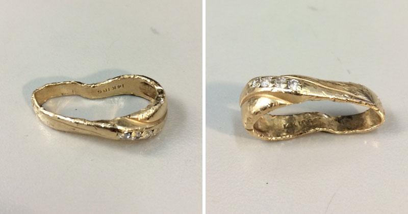 Amazing Wedding Ring Restoration After Falling Into GarbageDisposal