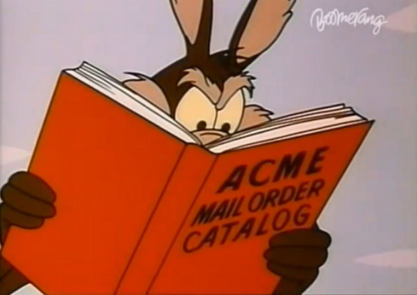 wile e coyote acme products catalog Chuck Jones 9 Golden Rules for the Coyote and the Road Runner