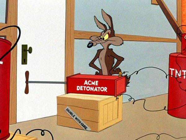 wile e coyote acme products Chuck Jones 9 Golden Rules for the Coyote and the Road Runner