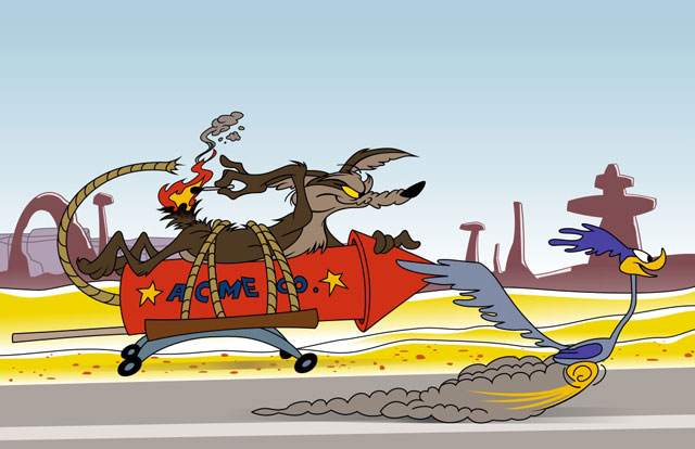 wile e coyote chasing road runner Chuck Jones 9 Golden Rules for the Coyote and the Road Runner