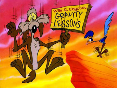 wile e coyote gravity Chuck Jones 9 Golden Rules for the Coyote and the Road Runner