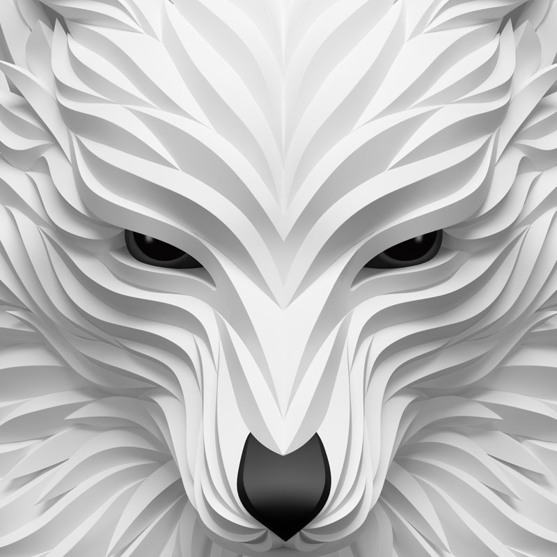 Wolf and hoof 3d animals by maxim shkret