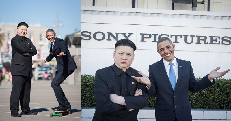 So Barack Obama and Kim Jong Un Impersonators Met in LA Recently…
